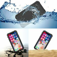 IP68 Water Shock Dust Proof 360° Full Cover Hard Clear Case for Apple iPhone X
