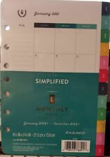 Simplified by Emily Ley 2021 Monthly Refill 5-1/2