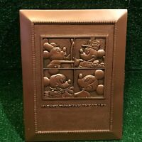 Disney World Mickey Mouse Through The Year Copper Metallic Picture Frame & Pin