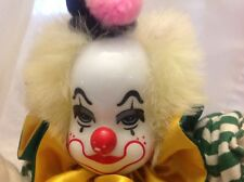 Clown Doll Collectable Vintage Porcelan Head Clown