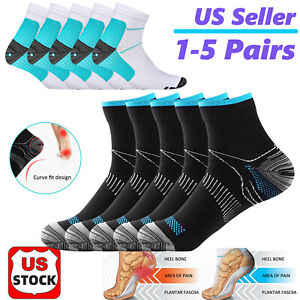 Unisex Compression Socks Foot Pain Arch Ankle Running Support Plantar Fasciitis