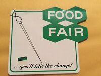 Vintage Advertising--Food Fair-Sewing Needle Repair Case -Sharps Thread Threader