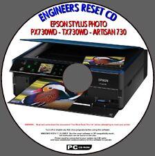 Impresora Epson PX730WD TX730WD Art 730 residuos Almohadilla De Tinta error saturado restablecer PCCD
