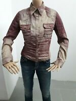 Camicia JUST CAVALLI Donna Shirt Woman Chemise Femme Taglia Size M Cotone 8374
