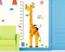 Wandtattoo Wandsticker Wandaufkleber Messlatte Giraffe Kind 155 x 105 W011