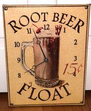WORKING Retro Root Beer Float Clock