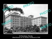 OLD LARGE HISTORIC PHOTO OF St PETERSBURG FLORIDA, VIEW OF SORENO HOTEL 1930