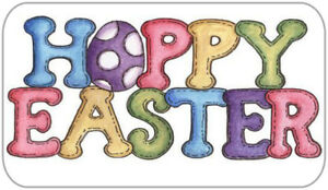 21 x Hoppy Easter Stickers Tags Egg Hunt Labels Gift Bags Happy Easter