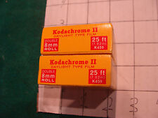 vingage UNUSED film: 2 Boxes KODACHROME II A double 8mm roll EXp 1971 K459