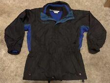 Columbia Mens Medium Longs Peak Black Blue Green Heavy 2-Layer Jacket Coat M