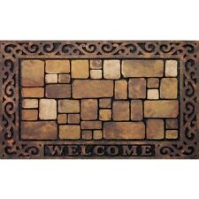 Mat Floor Rug Door Welcome Doormat Indoor Outdoor Rubber Entrance Non-Slip 18x30