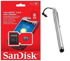 SanDisk 8GB MicroSD Micro SDHC Class 4 Memory Card Adapter Stylus Touch Pen lot