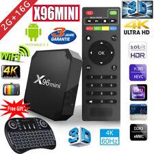 X96mini Amlogic S905W QuadCore Android 7.1.2 16GB WIFI 4K Smart TV BOX +Tastatur