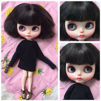 Nude Blythe Doll From Factory 7 Joints + Dark Brown Short Hair 12inch 30cm