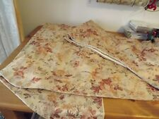 """CUSTOM MADE SILK DAMASK VALANCE 212"""" LONG SWAG PEACH FLORAL LINED 2 AVAILABLE"""