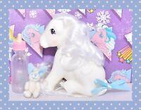 ❤️My Little Pony MLP Vtg G1 Style HQG1C Sitting Snow 2.0 White Custom Retired❤️