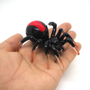Collectibles Glass Figurines Black Widow Spider Gift for Insect Wild Collection