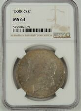 1888-O $1 Morgan Silver Dollar Ngc Ms63 #5758282-059 Attractive Toning!