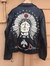 Johnny Hallyday Leather Jacket Large Western Passion Backstage Jeff Hamilton