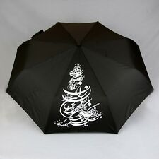 PERSIAN CALLIGRAPHY BLACK UMBRELLA, Persis Collection Art Shop