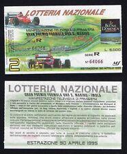 Ticket Raffle National - Gran Prix Formula One Saint Marine Imola 1994