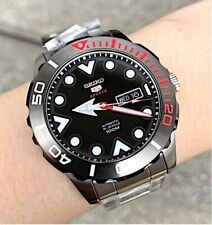 SRPA07J1 Automatic Black Day & Date Dial Silver Steel Watch for Men Japan Made