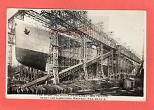 More details for  white star liner britannic ready for launching belfast 1914 rp pc ref u821