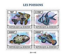 Exotic Fish Marine Life fishes Burundi 2013 m/s Sc.1383 MNH #BUR13308a