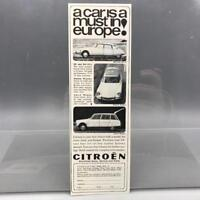 Vintage Magazine Ad Print Design Advertising Citroen Automobile