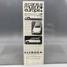 Vintage Magazine Ad Print Design Advertising Citroen Automobile