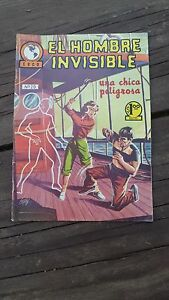1965 MEXICAN COMIC EL HOMBRE INVISIBLE # 20 (INVISIBLE MAN ADVENTURE/MONSTER)