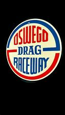 Oswego Drag Raceway Round Metal Sign • Chicagoland Car Racing Strip Ogden Ave