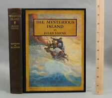 1933 Antique The Mysterious Island Jules Verne N.C. Wyeth Illustrated Book, NR