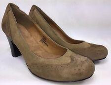 GH Bass Women's Casual Dress Shoes Cognac Wingtip Pumps Low Heels Sz 8M New