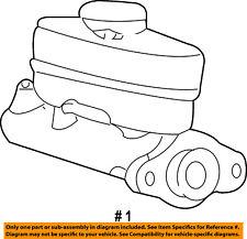 FORD OEM 00-02 F-150-Brake Master Cylinder 3L3Z2140BA