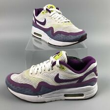 Nike Air Max 1 Bright BR White Purple Ladies Womens Shoes Trainers UK Size 5