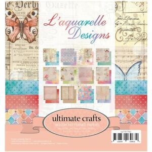 24 Dbl Sided Sheets of 6x6 Patterned Craft Papers Butterfly, Bird, Floral & More