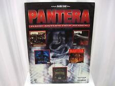 Pantera Bass Anthology Series Bass Tab Tablature Sheet Music Song Book by Warner