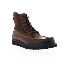 Frye Montana Moc 80676 masculino de couro marrom com cadarço estilo casual Vestido Botas