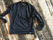 Nike Dri Fit Pro Combat Long Sleeve Shirt Mens Black x-large Fitted Crew Neck