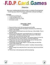 11+PLUS MATHS FRACTION, DECIMAL + % GAME-NFER/BOND/CEM