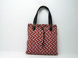 Juicy Couture Linen Cotton Multicolor Tote Drawstring Handbag