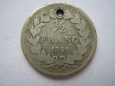 France 1841-b argent 1/2 franc, graphique.