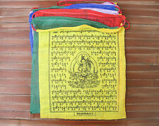 25 Tibetische Gebetsfahnen - Grüne TARA - Dolma - 100% Baumwolle - NEPAL