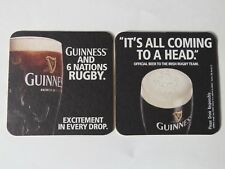 Beer Bar Coaster ~ GUINNESS Stout ~ Irish Rugby Team ~ It's All Coming To A Head