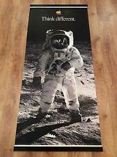 APPLE THINK DIFFERENT Original 1998 Huge Vinyl Banner BUZZ ALDRIN MOON LANDING