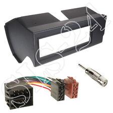 Fiat Panda TYP 141 1-DIN Blende Radiorahmen schwarz+ISO Adapterkabel+Antenne Set