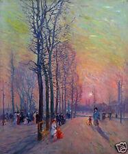 """Elie Anatole Pavil (1873 – 1948) """"Jardin du Luxembourg """" Huile sur toile"""