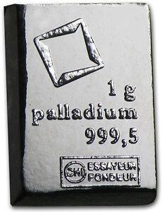 PALLADIUM - VALCAMBI SCHWEIZ - PALLADIUMBARREN - ANLAGE BARREN