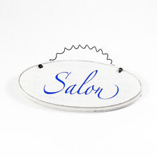 Salon - French Room Sign Hanging Plaque Decorative Chic Ceramic Door Sign